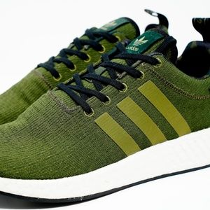 Adidas NMD R2 Knit Sneaker 10.5 Olive Cargo B22630